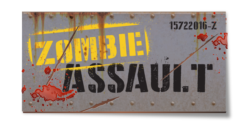 Zombie Assault Attraction Logo